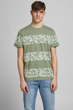 Jack and Jones t-shirt floral striped 4 colours