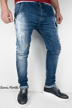 JEANS CHINOS SLIM FIT BADGE