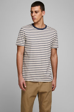 Jack and Jones striped tshirt ss 2 colours