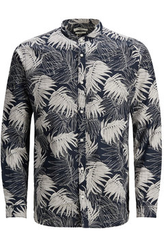 Jack and Jones floral shirt mao collar